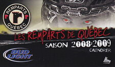 2008-09 QUEBEC REMPARTS HOCKEY POCKET SCHEDULE - FRENCH