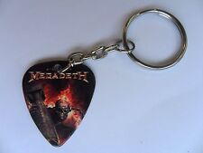 MEGADETH  Double Sided Guitar Pick // Plectrum Silver Keyring