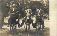 Cheyenne Canon Colorado Springs CO Tourists Mules Donkeys c1910 RPPC #1 myn