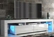 Modern 200cm TV Unit Cabinet TV Stand - Matt Body & High Gloss Doors LED Light