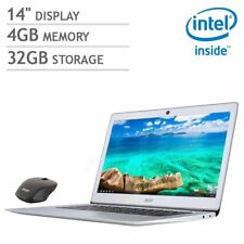 "Acer 14"" FHD1080p Chromebook 4GB DDR3 32GB SSD Celeron Bonus Acer Wireless Mouse"