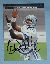Stepfret Williams Signed 1996 Donruss Football Rookie Card RC Cowboys XFL Auto'd