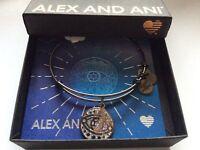 Alex and Ani Evil Eye Bangle Bracelet Midnight Silver NWTBC