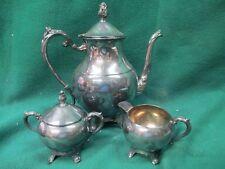E.B.Rogers silver Co. 1883 Three Piece Tea Set, w/creamer and sugar #2173/Q2