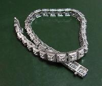 Erstklassiges 750er WEIßGOLD Art Déco-ARMBAND m. 1,3 ct Diamanten 14,75 g Tennis