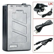 New DC 5V/12.6V 2 In 1 Rechargeable 10000 Mah Li-ion Battery Pack UK Adapter
