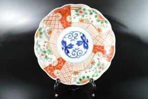L6412: Japanese Old Imari-ware Arabesque Wreathe-shaped ORNAMENTAL PLATE/Dish