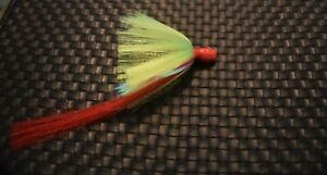 3 Snook Jigs 1 3/8 Once 7/0 Mustand Hook Red Head Chartreuse Green Skirt