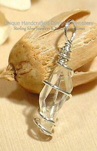 Herkimer Quartz Crystal Diamond Sterling Silver 925 Pendant Handmade 0521-6