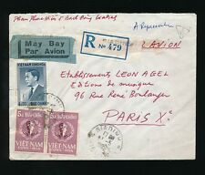 VIETNAM GIADINH REGISTERED 1962 CONG HOA FRANKING AIRMAIL + TRIANGLE X17