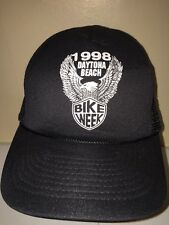 DAYTONA BEACH BIKE MESH VINTAGE SNAPBACK Trucker Hat Baseball Cap Retro Rare BB