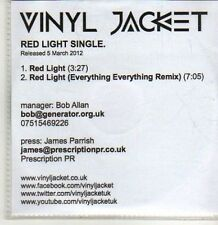 (CS894) Vinyl Jacket, Red Light - 2012 DJ CD