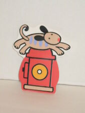 Jenny Jeff Faw Dog Parade Fire Extinguisher Wall Decor Stick on w/ Suction Cup