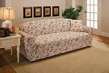 PINK FLORAL-CHAIR COVER-ALSO COMES IN  SOFA COUCH LOVESEAT RECLINER FUTON SLIP