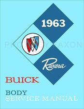 1963 Buick Riviera Body Shop Manual 63 Repair Service Doors Locks Windows Seats