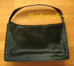 COACH $300 Green Pony Calf Hair Medium HOBO HANDBAG Purse , Rare bag!