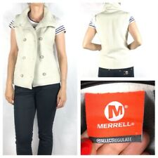 MERRELL Women's Ivory Bodywarmer Size S Fit 10 UK Good Condition