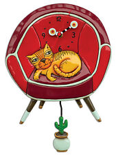 〓 Michelle ALLEN DESIGNS Wall Clock Cat Kitten Design Cool Ginger Orange Cat