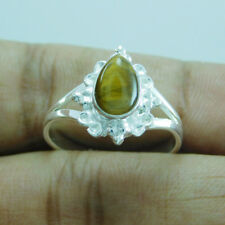 925 Sterling Silver Beautiful Hot Sell Tiger Eye Ring SZ-6 utr-642