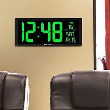 Digital Wall Clock Large Led Display Calendar Office Clroom W Temperature