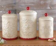 Red Ceramic Kitchen Canister Sets For Sale Ebay