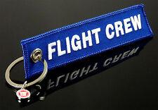 Flight Crew -beidseitig- Schlüsselanhänger Keyring Blau