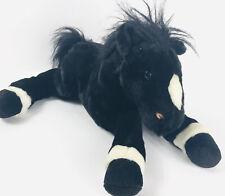 """Animal Alley 2000 ToysRUs Black/White Large Plush Pony Horse Stuffed Animal 16"""""""