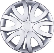 "4x Premium Diseño Tapacubos parabrisas"" Mika ""14 pulgadas en plata"