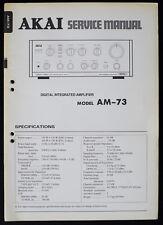 AKAI AM-73 Original Digital Integrated Amplifier Service-Manual/Diagram o156