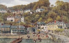 A.R.QUINTON : Clovelly from the Quay-SALMON  *2366