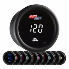 GlowShift 10 Color Digital Oil Temperature Gauge - GS-TCD07