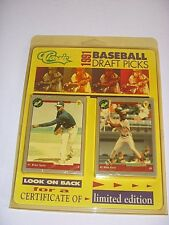 VINTAGE 1991 CLASSIC BASEBALL DRAFT PICKS CERTIFICATE LIMITED EDITION #D SEALED
