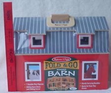 Melissa & Doug Fold & Go 3700 Wood Barn & Pasture Farm Animals 2013 Age 3+ NEW