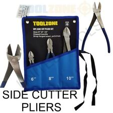 "Toolzone 3 UDS corte lateral Alicates Set 6 "", 8 "", 25.4cm"