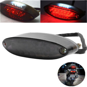 UNIVERSAL LED Motorcycle Number License Plate Tail Brake Stop Tail Rear Light UK