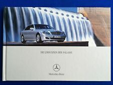 Prospekt Brochure Mercedes W220 S-Klasse S 320 400 350 430 500 600 55 AMG 09/02