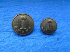 2 X GENUINE ROYAL WEST AFRICAN FRONTIER FORCE, R.W.A.F.F. BLACK BUTTONS
