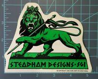 "Steve Steadham Design S.G.I.- Rare - Green ""Lion"",Powell Peralta, 1986, vntg"