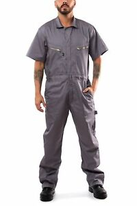 KC08 - Kolossus Pro-Utility Cotton Blend Short Sleeve Coverall with Zip-Front Po
