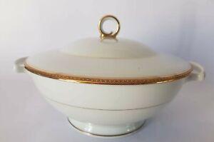 Soup Tureen Limoges Porcelain Liserer Golden By Tcharaud Ref 5248