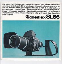 Rolleiflex SL66 - System - Prospekt - deutsch