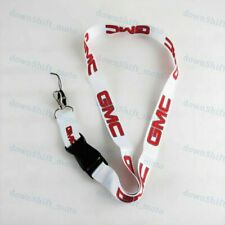 For GMC Racing NYLON DOUBLE SIDE Lanyard Neck Strap KeyChain Quick Release WHITE