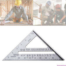 7 inch Metric system Siver Aluminum Alloy Measure Speed Square Roofing Triangle