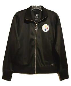 New Pittsburgh Steelers Women's MSX Michael Strahan NFL Football Track Jacket M