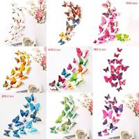 12pcs 3D Butterfly Design Decal Art Wall Stickers Room Decorations Home Decor]]