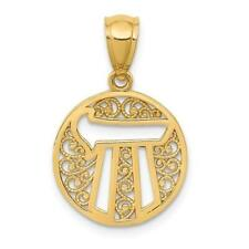 14k Yellow Gold Chai Long Life Good Luck Kabbalah Bar Mitzvah Charm Pendant Gift