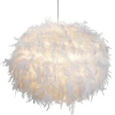 White Feather Ball Ceiling Shade Pendant Girls Bedroom  30cm