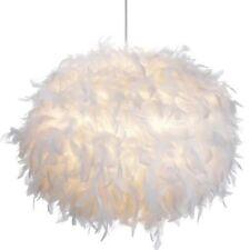 White Feather Ball Ceiling Shade Pendant NEW Girls Bedroom Boudoir Glamour 30cm