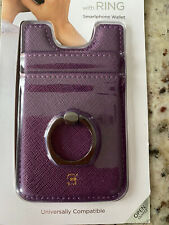 Phone Case With Wallet And Ring For Smartphone