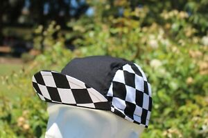 CYCLING CAP CHECKERBOARD HANDMADE IN USA   S M L